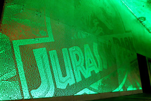 green jurassic park display
